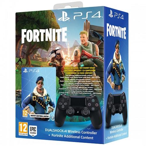 PS4-DualShock-4-V2-kontroler-crni-Fortnite-voucher