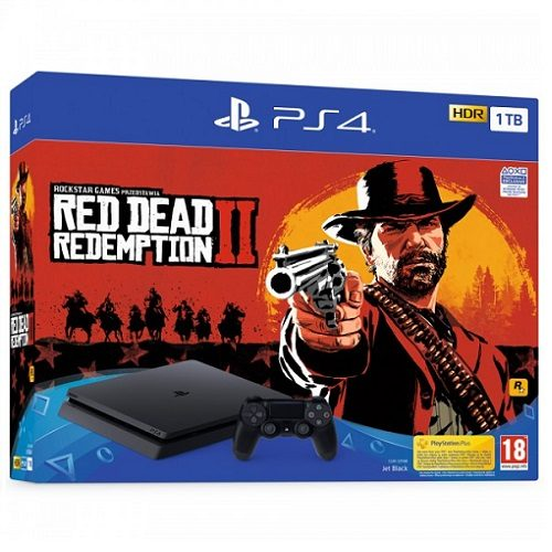 PS4 Slim 1TB Red Dead Redemption 2 bundle